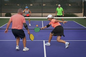 Pickleball is a popular game among seniors because it's great exercise and maintains the competitive elements of tennis or racquetball, while not being as physically demanding on the body.