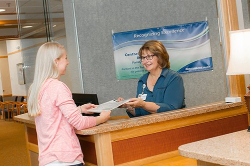 The friendly staff at CentraCare Clinic – Becker provide support for your health care.