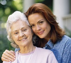 Memory Care mother and daughter