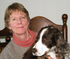 Ellen Spark and her first rescued Springer Spaniel