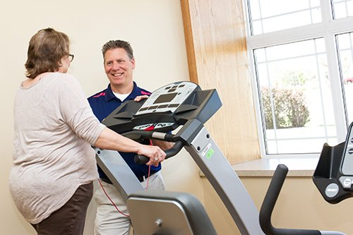 A dedicated physical therapy gym and physical therapy specialists provide care to help you feel better and keep you active.