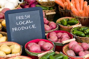 Buy local produce at farmers markets