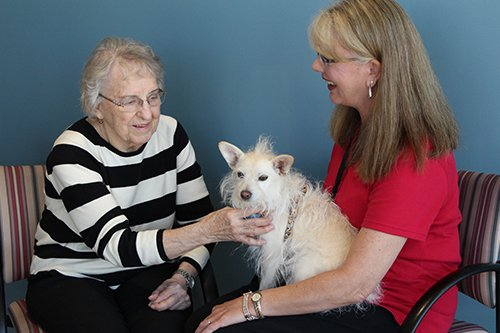 CentraCare Health – Monticello's Geriatric Behavioral Health Unit includes supportive services, including animal assistive therapy, to heal the whole person.