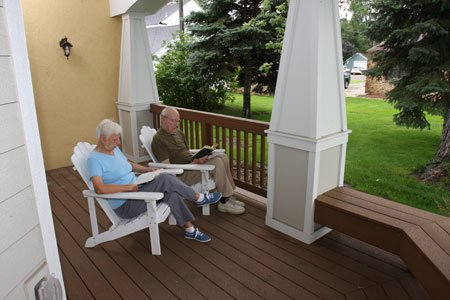 Relax with a good book on the serene porch.